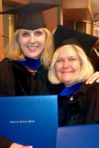 Carrie Phelps and Char Conlin at Saybrook University Graduation