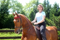 Heidi%2526Scout - MBM Student Completes Master's Project on Combination of Equine Therapy with Mindfulness for Cardiac rehabilitation: Heidi Tobin (Fall 2010 Cohort)