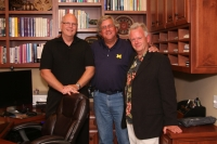 Michael Yapko (center) at home in San Diego with MBM faculty Willmarth and Moss