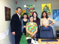 Michelle Lamasa-Schrader (2nd from right), Dr. Moreno (left), his Wife and Staff