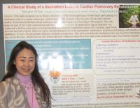 Photo Tamami%20Shirai%20with%20poster - Saybrook University integrative medicine student Tamami Shirai presents poster on clinical study of meditation at Lifestyle Medicine 2015 conference