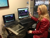 Jana Downum in Biofeedback Office