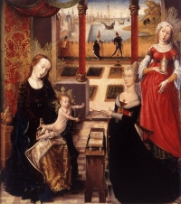 Madonna with Donor and St Mary Magdalene.