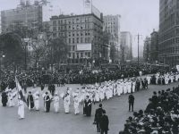Women's march for suffrage in 1912.