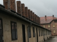 The barracks at Auschwitz.