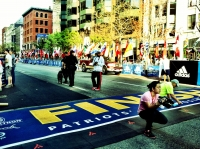 Just one year ago, a very peaceful finish line scene.