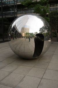 Chrome ball in Ginza - An Experience in Relational Dharma