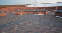The Columbine High School Memorial.