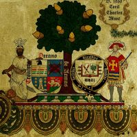 A detail of a tree from the Sociedad Heraldica.