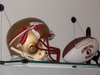 Florida State Seminoles helmet and ball.