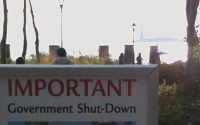 Important government shutdown notice for the Stature of Liberty - Judgment + Compassion = Confusion