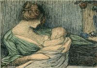 "Janis Rozentāls' ""Mother and Child"" (1904)."