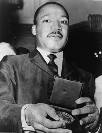 Martin Luther King Jr with medallion NYWTS - On Teaching Diversity