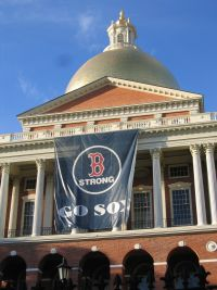 Massachusetts State House Red Sox Banner - BOSTON STRONG: Engendering Self-Examination
