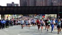 Mile 21 of the New York City Marathon.
