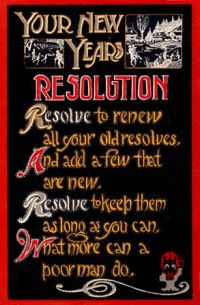NewYearsResolution1915SecondPostcard - Waxing Existential: New Year, New You?