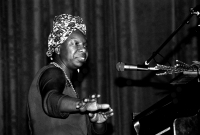 Nina Simone in 1982. Photo by Roland Godefroy.