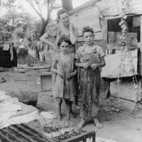 Poor mother and children%2C Oklahoma%2C 1936 by Dorothea Lange - Money Money Money: Part Two: Poverty