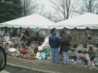 A memorial to the children killed at Sandy Hook.