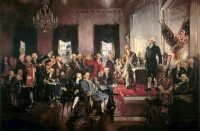 Christy's 1940 painting, Signing of the Constitution.