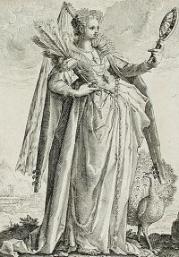 "Jacob Matham's (ca. 1587) engraving ""Pride."""