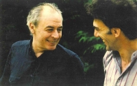 R. D. Laing and Andrew Feldmár in 1982.