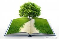 Book of nature with tree - Education contributing to issues and being a solution for environmental sustainability