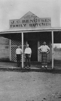StateLibQld 1 141327 Biggenden business J. C. Bengtsen family butcher%2C ca. 1920 - Family Business as a Model for Sustainability and Social Responsibility