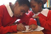 Photo of Nairobi school children courtesy of EducationAndTransition.org