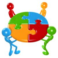 working together teamwork puzzle concept - Allowing Transformation Toward Sustainability
